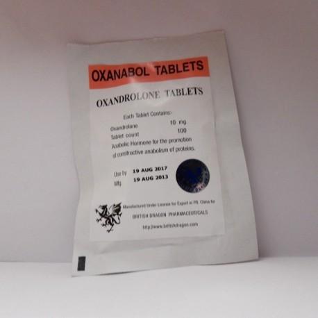 Oxanabol 10mg x 100 tablets (British Dragon)