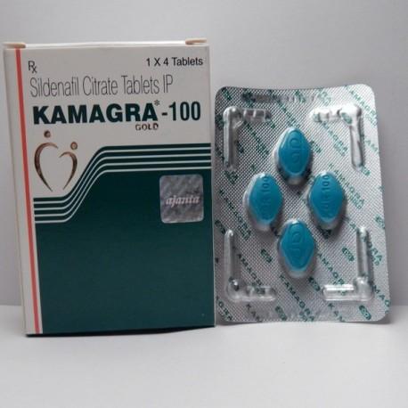 Kamagra Gold Green (100 mg/tab) 4 tabs